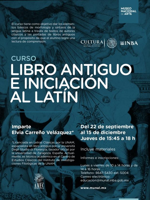 Libro antiguo y latín